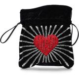Handbag Trilly Velvet - Black - Les Petits Joueurs Totes