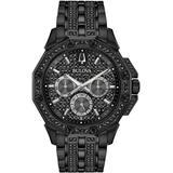 Octava Black Stainless Steel & Swarovski Crystal Bracelet Watch - Black - Bulova Watches