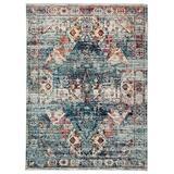 """Jaipur Living Farra Indoor/ Outdoor Medallion Multicolor/ Blue Area Rug (4'X5'8"""") - RUG142870"""