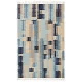 Jaipur Living Carver Indoor/ Outdoor Abstract Blue/ Gray Area Rug (5'X8') - RUG138159