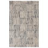 Nikki Chu by Jaipur Living Saville Handmade Abstract White/ Black Area Rug (9'X12') - RUG138365