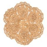 Jaipur Living Freesia Natural Floral Beige Round Area Rug (4'X4') - RUG143412