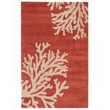 Jaipur Living Bough Handmade Abstract Coral/ Tan Area Rug (2'X3') - RUG121230