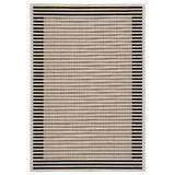 """Jaipur Living Fathom Indoor/ Outdoor Stripes Ivory/ Black Area Rug (2'X3'7"""") - RUG143329"""