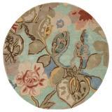 Jaipur Living Petal Pusher Handmade Floral Green/ Multicolor Round Area Rug (10'X10') - RUG100560