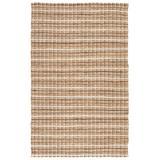 """Jaipur Living Harringdon Natural Stripe Gray/ Beige Area Rug (3'6""""X5'6"""") - RUG113250"""
