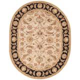 Jaipur Living Selene Handmade Floral Beige/ Black Oval Area Rug (8'X10') - RUG102962