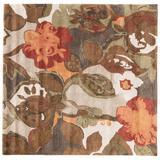 Jaipur Living Petal Pusher Handmade Floral Light Gray/ Multicolor Square Area Rug (6'X6') - RUG116186