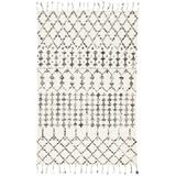 Jaipur Living Riot Handmade Geometric Ivory/ Black Area Rug (5'X8') - RUG138384