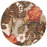 Jaipur Living Petal Pusher Handmade Floral Light Gray/ Multicolor Round Area Rug (8'X8') - RUG100408