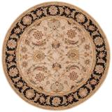 Jaipur Living Selene Handmade Floral Beige/ Black Round Area Rug (8'X8') - RUG102957