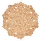 Jaipur Living Marigold Natural Dots Beige Round Area Rug (4'X4') - RUG143413