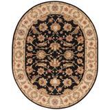 Jaipur Living Selene Handmade Floral Black/ Beige Oval Area Rug (8'X10') - RUG102980