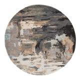 Jaipur Living Luella Handmade Abstract Gray/ Blush Round Area Rug (6'X6') - RUG142755
