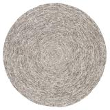 Jaipur Living Tenby Natural Solid Gray/ White Round Area Rug (6'X6') - RUG143092