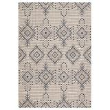 """""""Jaipur Living Compass Indoor/ Outdoor Tribal Ivory/ Blue Area Rug (8'9""""""""X12'5"""""""") - RUG143313"""""""