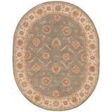 Jaipur Living Callisto Handmade Floral Green/ Beige Oval Area Rug (8'X10') - RUG103034