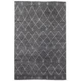 """Jaipur Living Casablanca Hand-Knotted Trellis Gray/ White Area Rug (9'6""""X13'6"""") - RUG129401"""