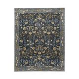 Old Hand Made Floral Blue Tulip Traditional Persian Oriental Woolen Area Rugs (9'x12')