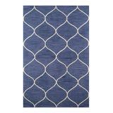 Momeni Rugs Indoor Rugs BLUE - Blue Waves Wool Newport Rug