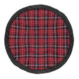 """Sweet Jojo Designs Plaid Rustic Patch Baby Fabric Playmat, Fabric in Red/White/Black, Size 36""""H X 36""""W 