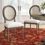 Three Posts™ Duffield Upholstered Side Chair in Sand GrayUpholstered/Fabric in Brown/Gray, Size 39.5 H x 20.0 W x 24.0 D in | Wayfair