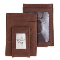 Eagles Wings Virginia Tech VT Hokies Wallet Front Pocket Leather Wallet