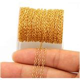 33FT Gold Silver Twisted Cable Chains Stainless Steel Necklace Jewelry Chains Extender Chains Link Bulk for Jewelry Makings