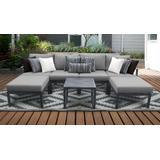 Lexington 7 Piece Outdoor Aluminum Patio Furniture Set 07a in Grey - TK Classics Lexington-07A-Grey