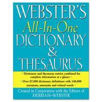 MERFSP0467 - Merriam Webster All-In-One Dictionary/Thesaurus