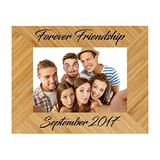 Sofia's Findings Personalized - Custom Engraved Wooden Picture Frame   Personalized Bamboo Picture Frame (4x6)