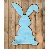 The Holiday Aisle® Vintage Rabbit Wood Wall Decor Wood in Blue/Brown, Size 18.0 H x 15.0 W x 0.5 D in | Wayfair E97B2A277FC84C8BA7F283E7FEDA40F6