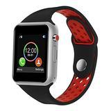 SUNETLINK Smart Watch, Touch Screen Bluetooth Smart Watch,Sport Smart Fitness Tracker Wrist Watch with Camera,Sweatproof Smart Watch with SIM TF Card Slot Compatible Samsung LG iOS Men Women Kids
