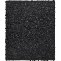 Safavieh Leather Shag Collection LSG511A Hand Woven Black Leather Area Rug (3' x 5')