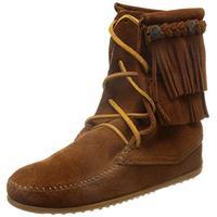 Minnetonka Women's Ankle Hi Tramper Boot,Brown,6 M US