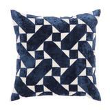 Nikki Chu by Jaipur Living Danceteria Blue/ Ivory Geometric Down Throw Pillow 22 inch - PLW103221