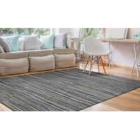 Couristan Natures Elements Skyview Rug, 4-Feet by 6-Feet, Denim
