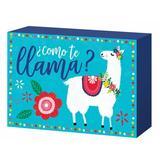 Amscan Cinco de Mayo Como Te Llama Standing Plaque Wood in Blue/Brown, Size 5.0 H x 8.0 W x 1.0 D in | Wayfair 242716