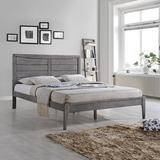 Union Rustic Fournier Queen Solid Wood Low Profile Platform Bed Wood in Gray, Size 64.15 W x 84.75 D in | Wayfair 83C4549FAAEE49B783E1E338C2B139DA