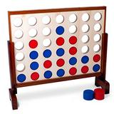Brybelly Giant Four in A Row   Classic Board Game for Outdoor Parties, BBQs, Weddings, and More   Great for Adults and Kids of All Ages   Oversized Game for Indoor/Outside Occasions
