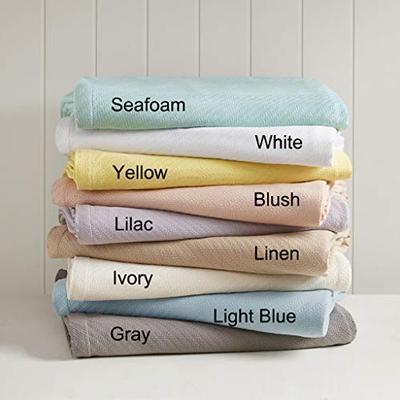 Madison Park Liquid Cotton Blanket Yellow Twin