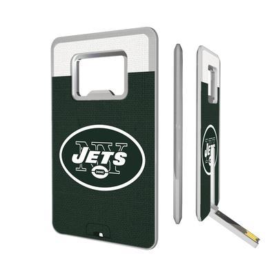 New York Jets Striped Credit Card USB Drive & Bottle Opener