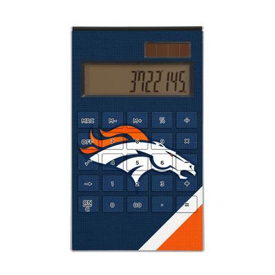 Denver Broncos Diagonal Stripe Desktop Calculator