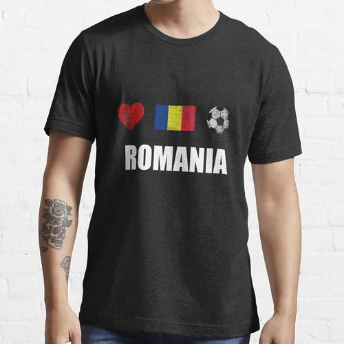 Rumänien Fußballtrikot - Rumänien Fußballtrikot Essential T-Shirt
