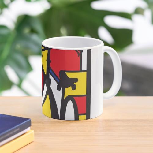 Mondrian Fahrradkunst Tasse