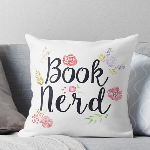 Buch Nerd Kissen
