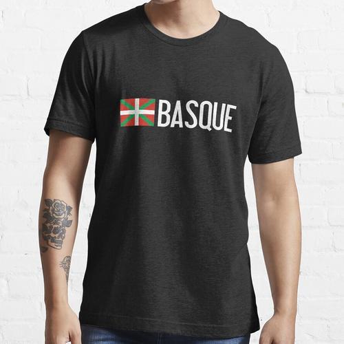 Baskenland: Baskische Flagge und Baskisch Essential T-Shirt