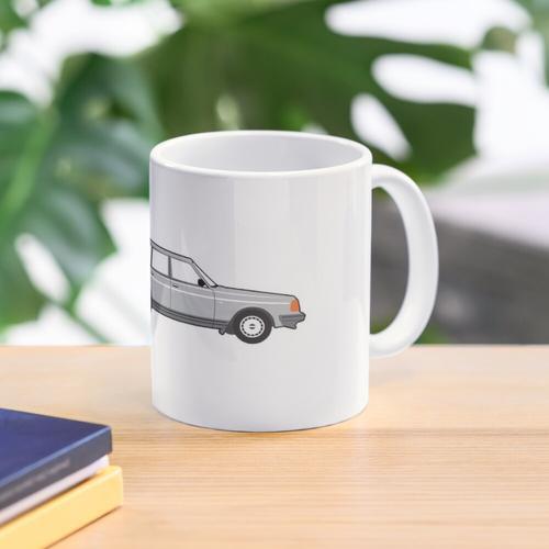 Volvo 240 Wagon Burnout Grau Tasse
