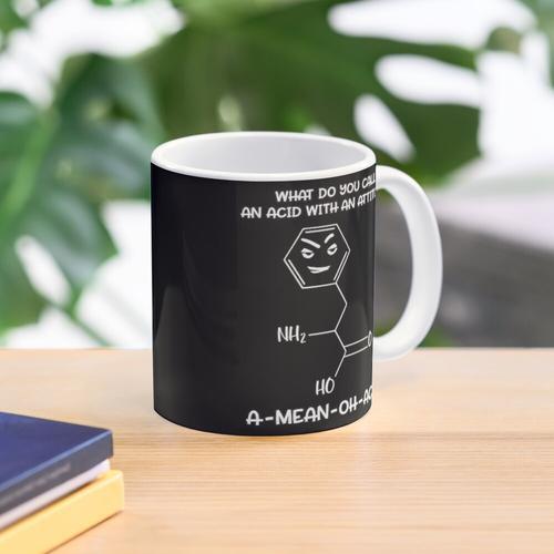 Chemiesäure mit Haltung Tasse