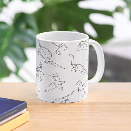 Origami Dinosaurier Tasse